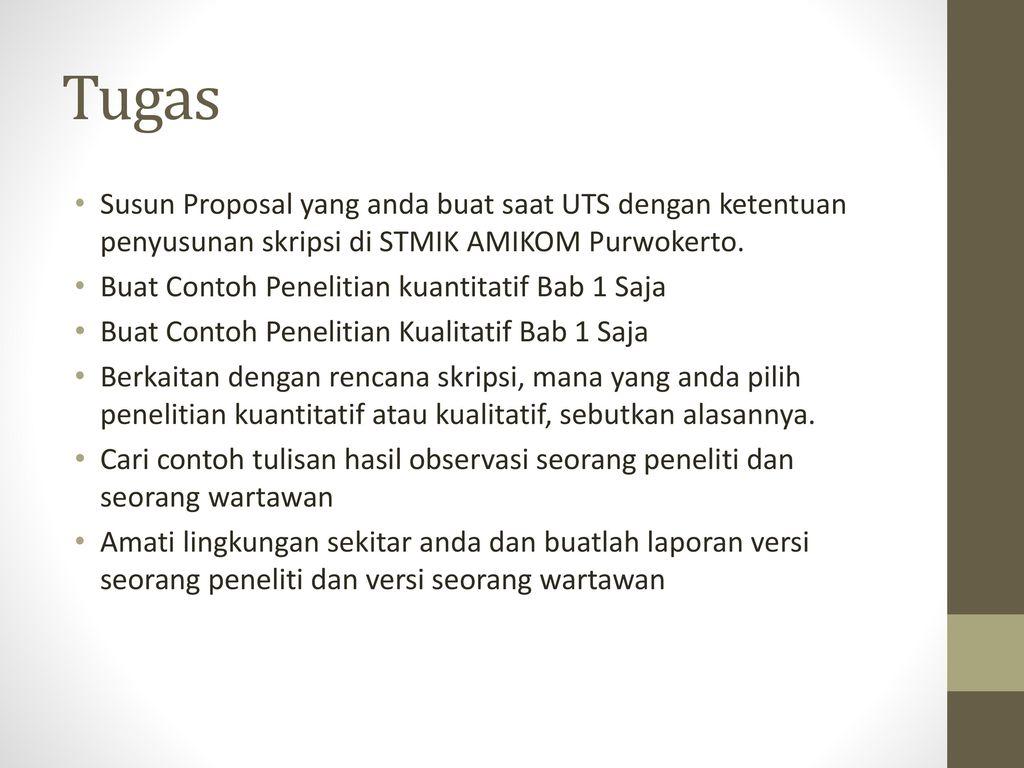 Pedoman Penyusunan Skripsi Stmik Amikom Purwokerto Ppt Download