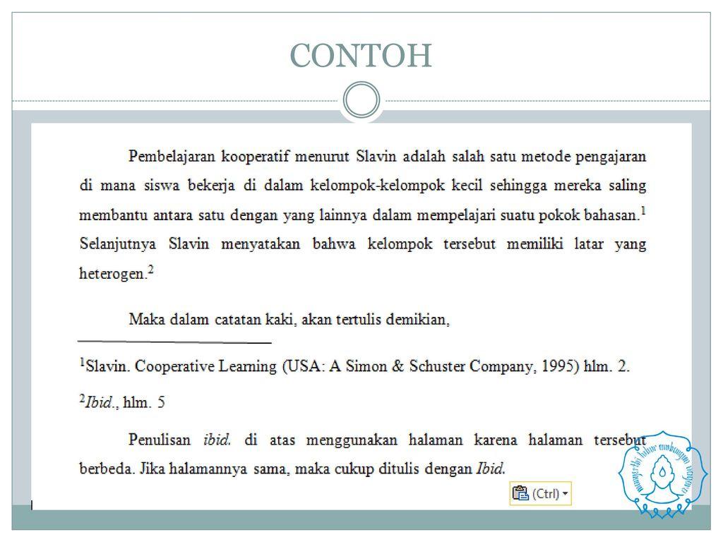 Penulisan Kutipan Dan Daftar Pustaka Ppt Download