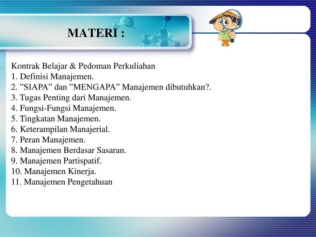 Dasar Dasar Manajemen Pertemuan 1 Mata Kuliah Manajemen Perubahan Ppt Download