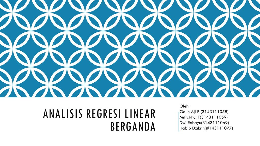 Analisis Regresi linear berganda