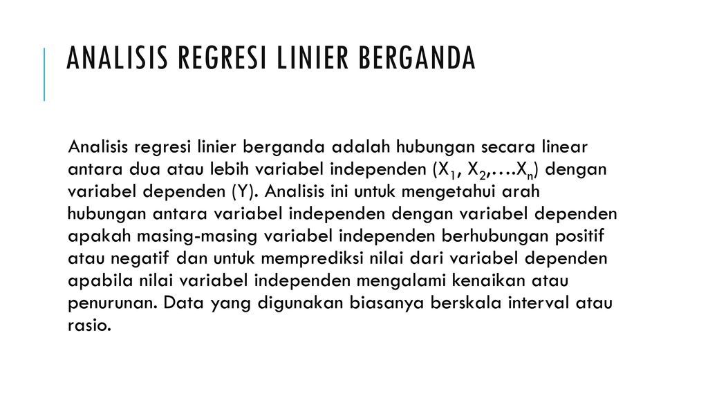 Analisis regresi linier berganda