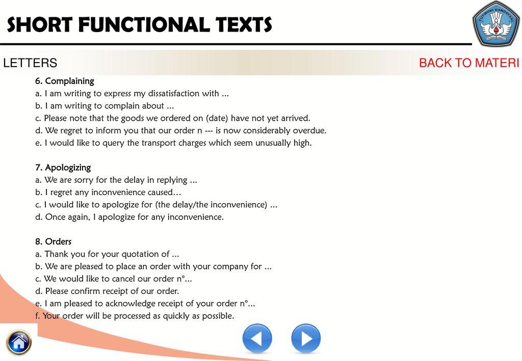 Kelompok Kompetensi D Profesional Short Functional Text 2