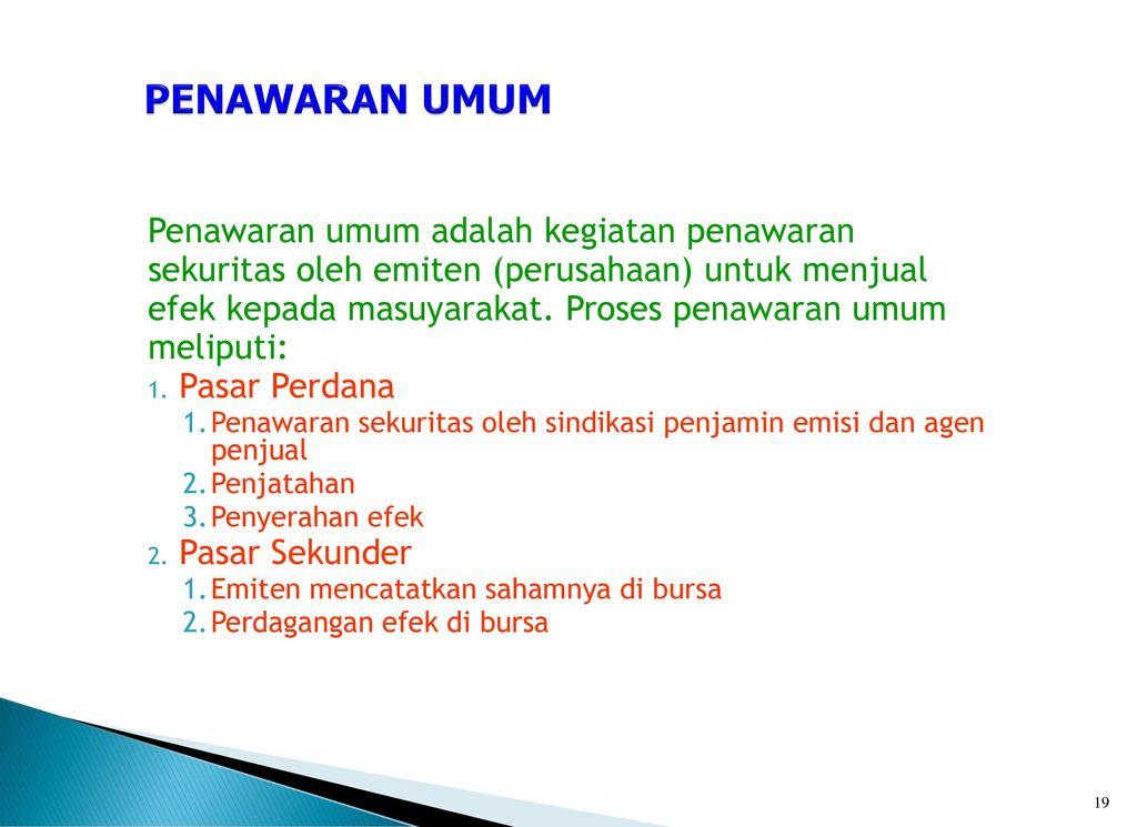 Analisis Pasar Modal Indonesia Dalam Kaitannya dengan Analisis Teknikal Investor