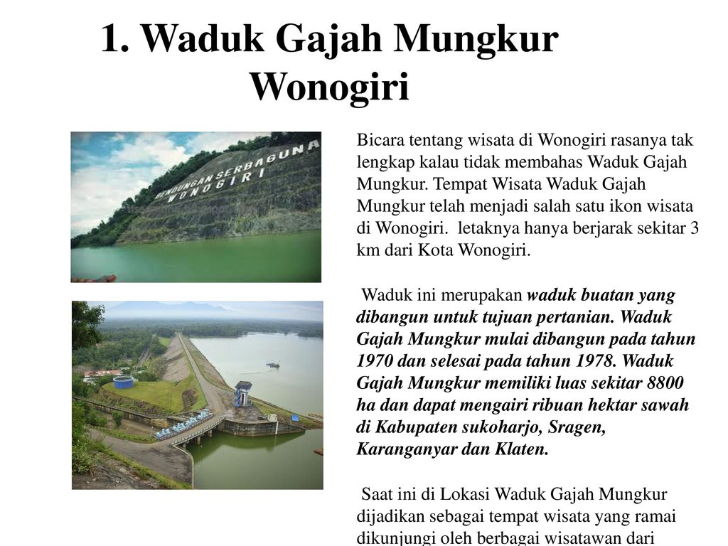 Pesona Keindahan Wonogiri Ppt Download
