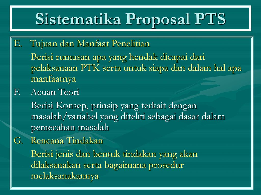 Sistematika Proposal PTS