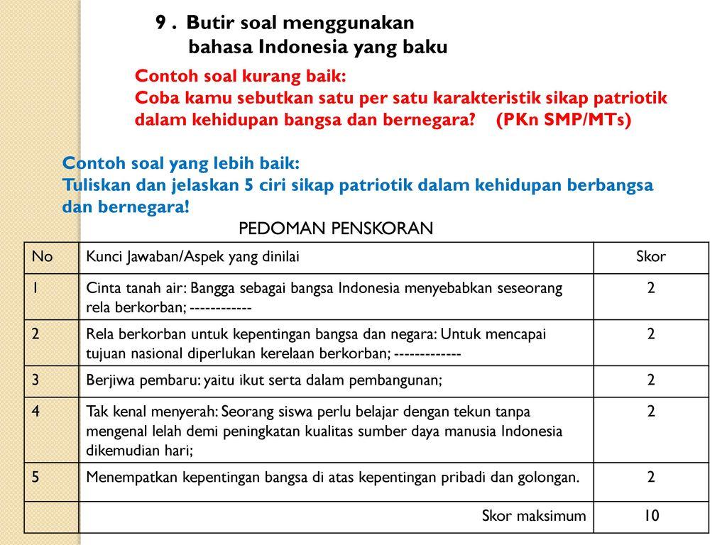 Contoh Soal Menjodohkan Bahasa Indonesia Smp