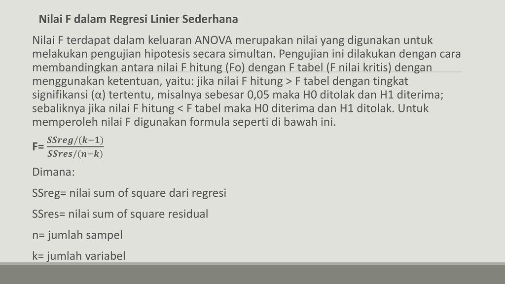 Contoh Kasus Dalam Riset Skripsi Dan Tesis Dengan Regresi Linier