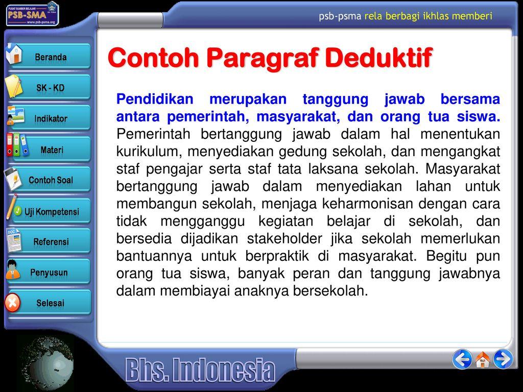 Paragraf Deduktif Dan Induktif Ppt Download