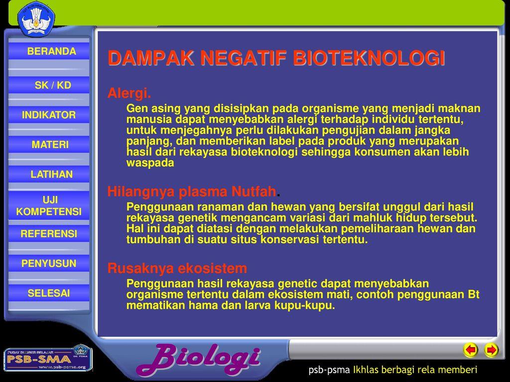 Bioteknologi Kelas Xii Semester 2 Oleh Dra Eny Nurwati Ppt