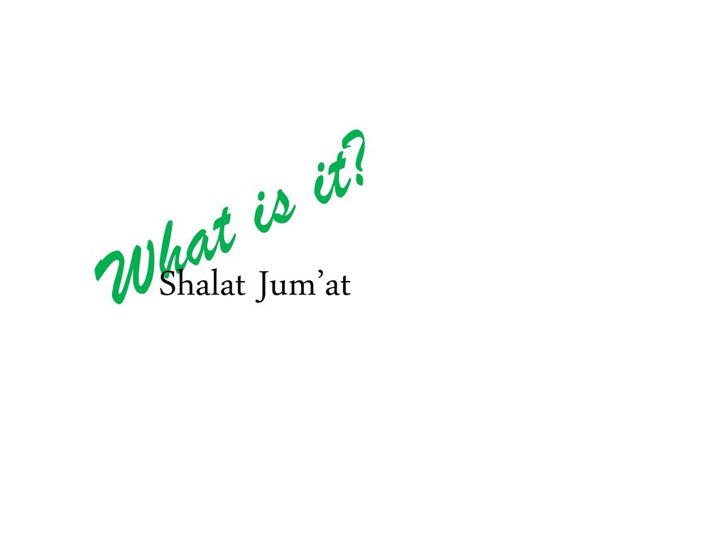 What is it Shalat Jum'at