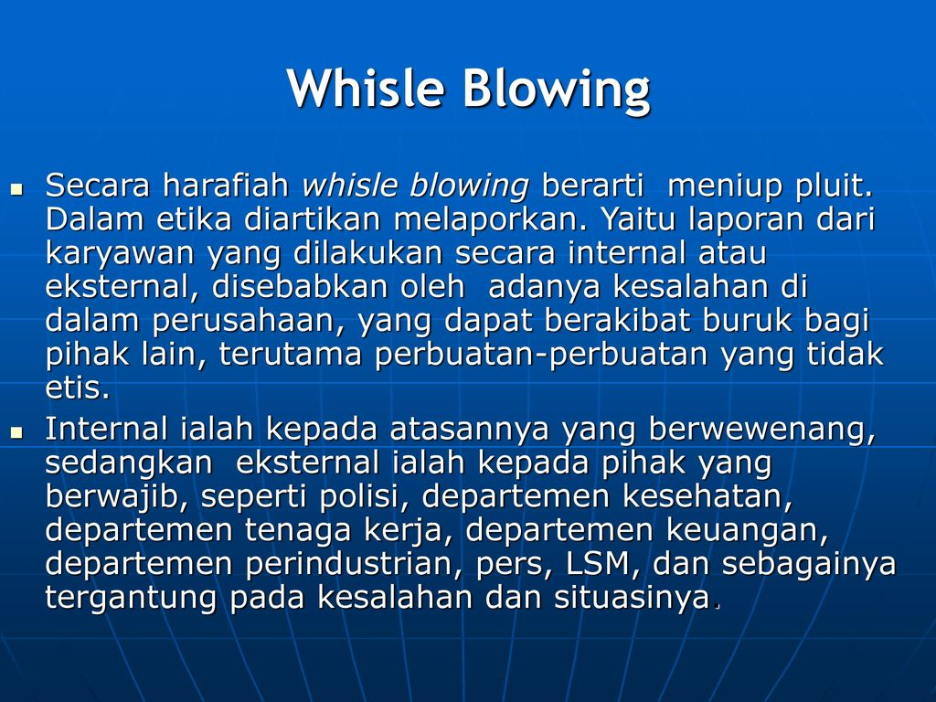 Whisle Blowing