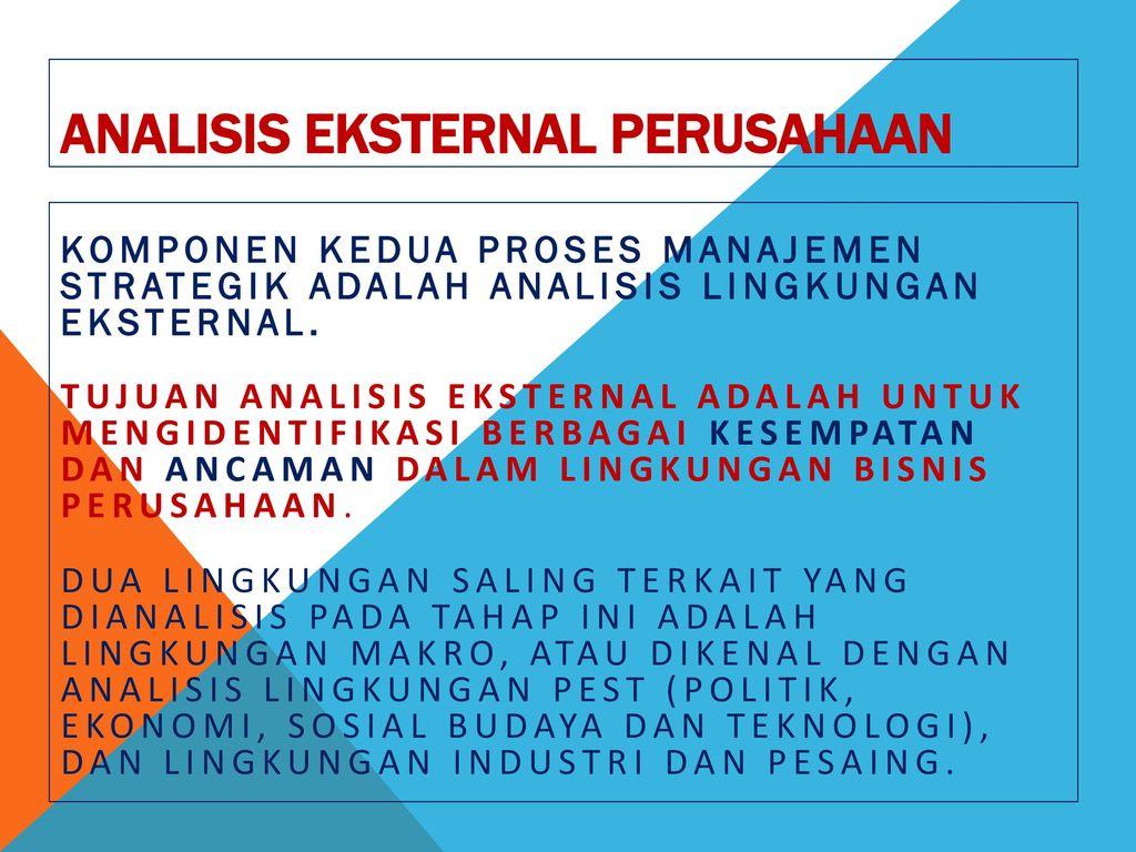 Analisis Eksternal Perusahaan Ppt Download