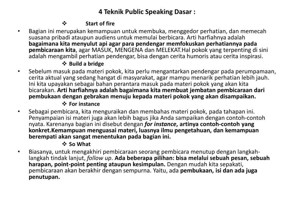 Jenis Jenis Pidato Pidato Informatif Pidato Persuasif Pidato