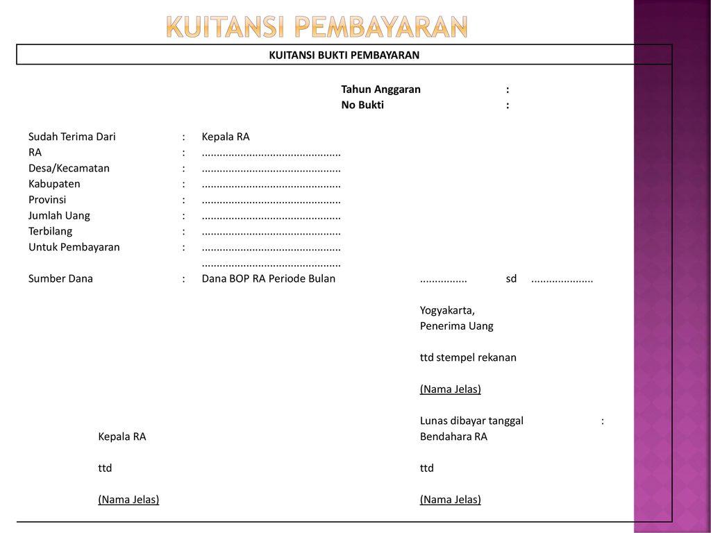 Laporan Pertanggungjawaban Dan Pembukuan Bop Ra Ppt Download