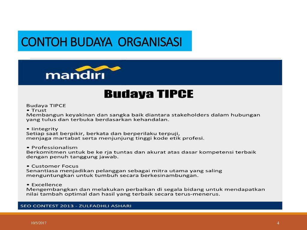 Budaya Organisasi Budi Setiawan S E M M 10 5 Ppt Download