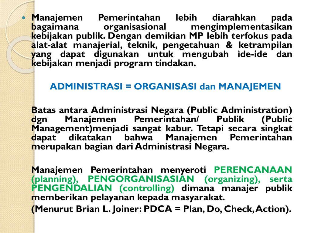 Contoh Makalah Organisasi Dan Manajemen Pemerintahan