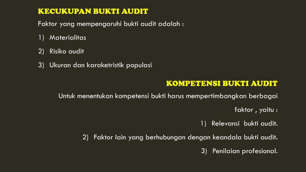 Auditing Bab Ii Bukti Audit Ppt Download