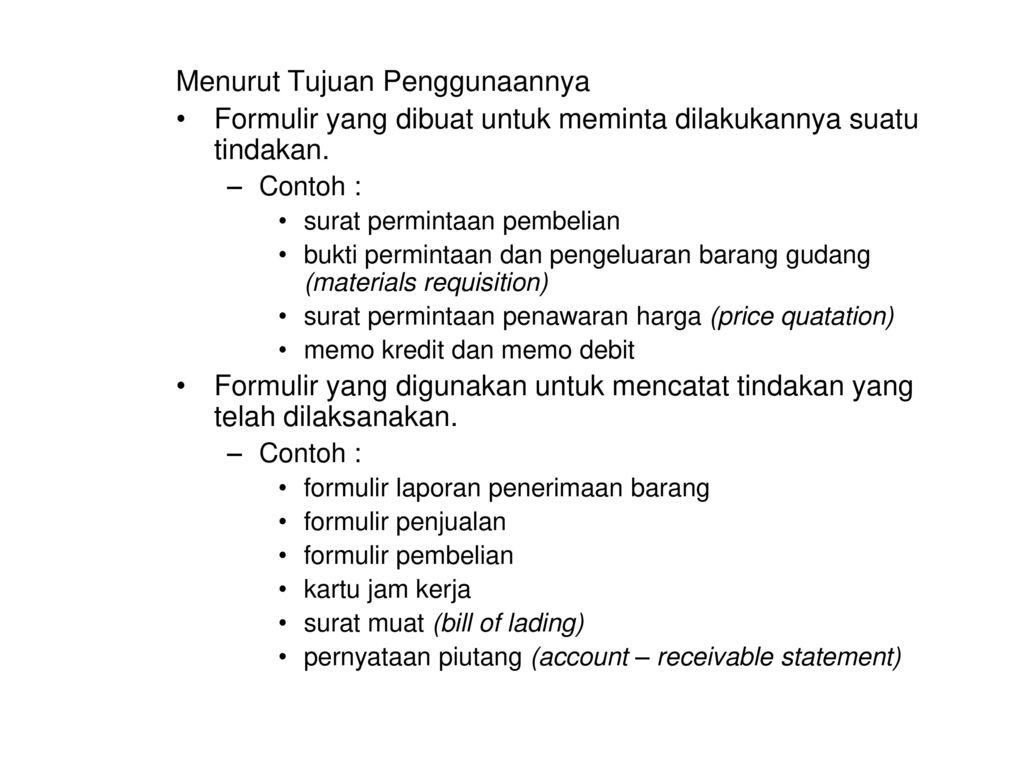 Dokumen Formulir Ppt Download
