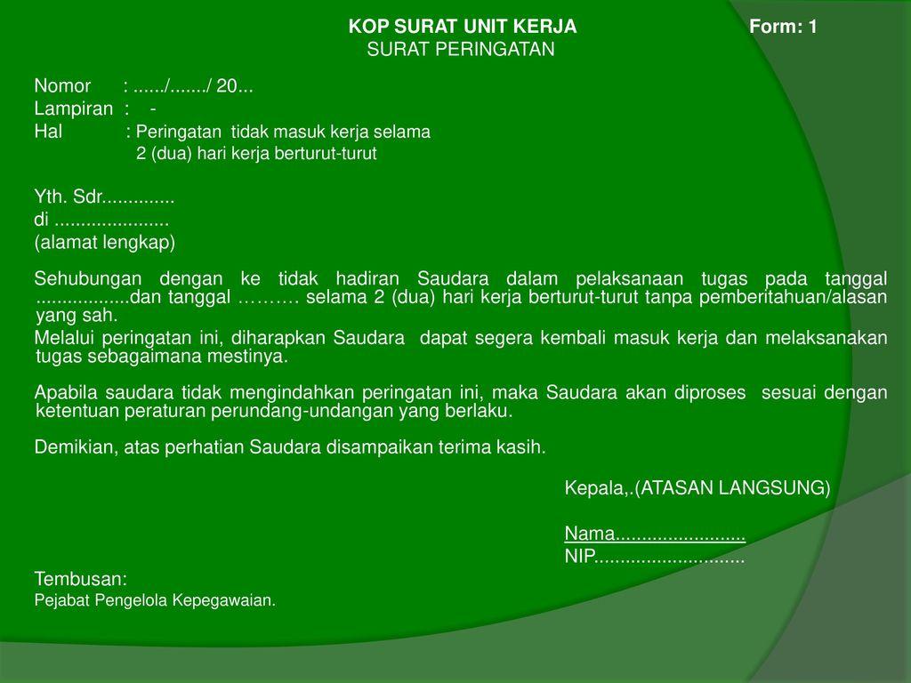 Format Pembinaan Dan Disiplin Pegawai Negeri Sipil Ppt Download
