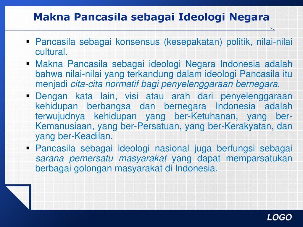 Pancasila Sebagai Ideologi Negara Ppt Download