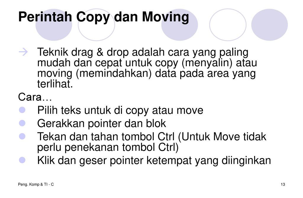Perintah Copy dan Moving