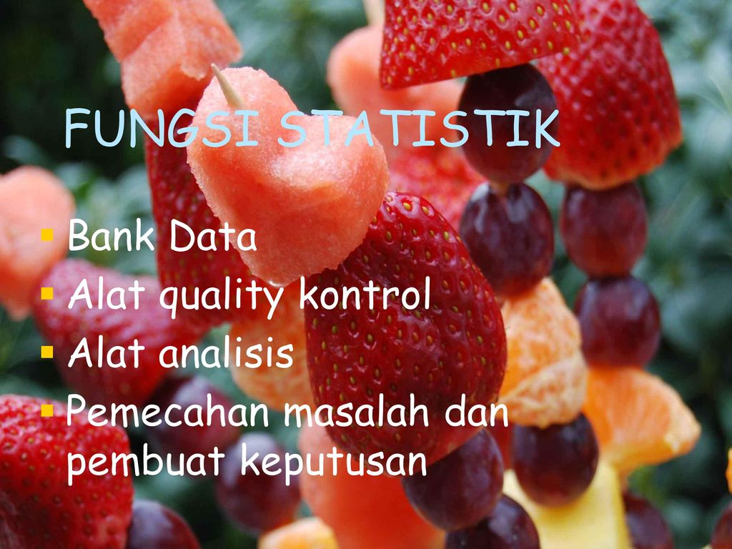 FUNGSI STATISTIK Bank Data Alat quality kontrol Alat analisis