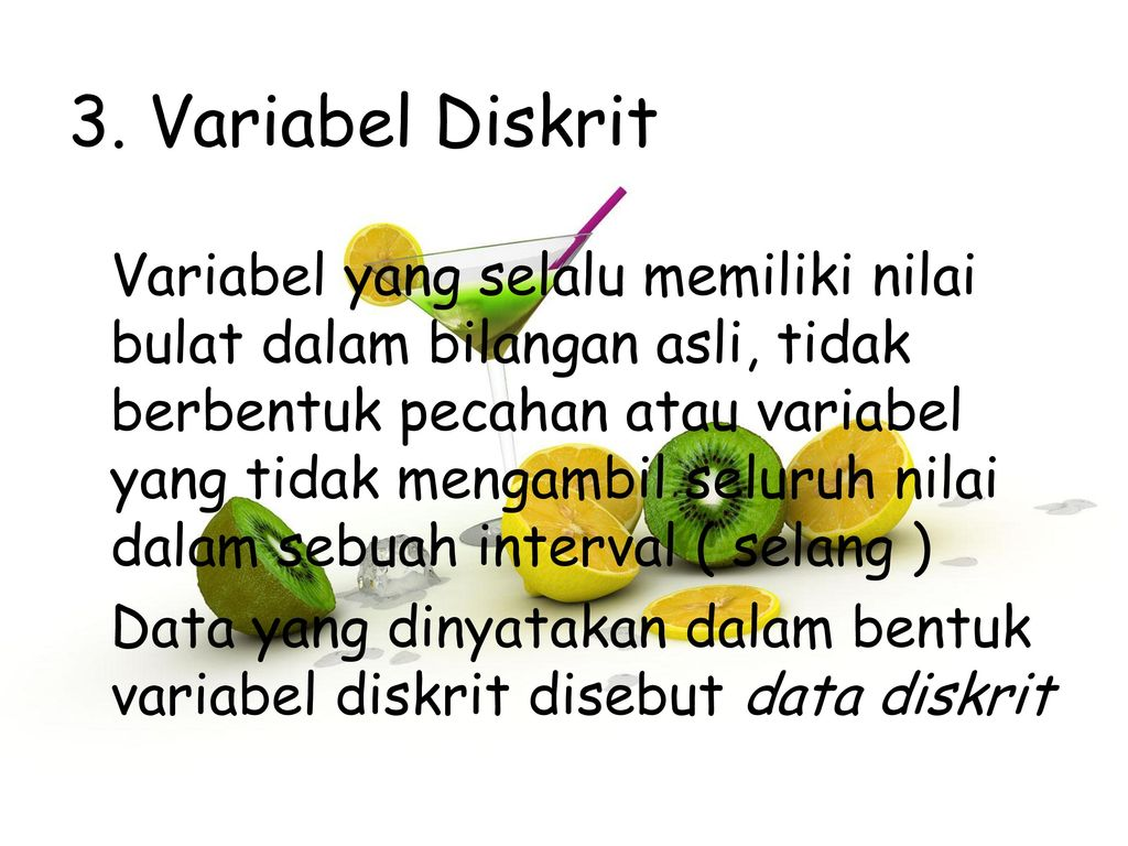 3. Variabel Diskrit