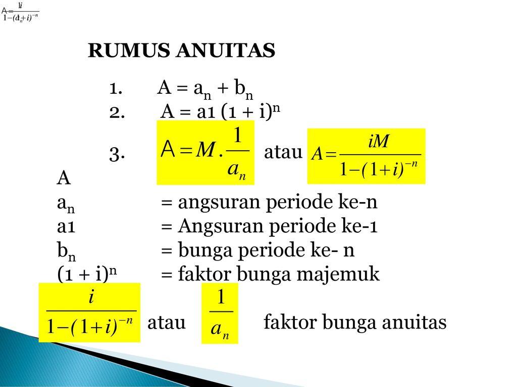 Anuitas Oleh Agus Arwani Se M Ag Ppt Download