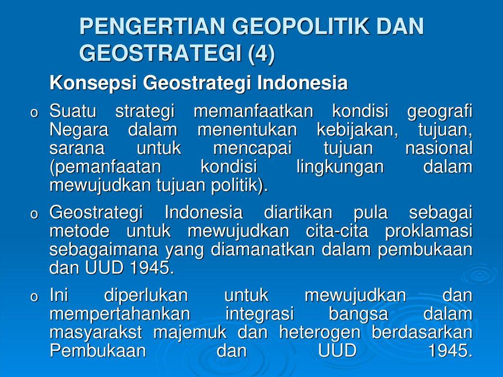Geopolitik Dan Geostrategi Indonesia Ppt Download