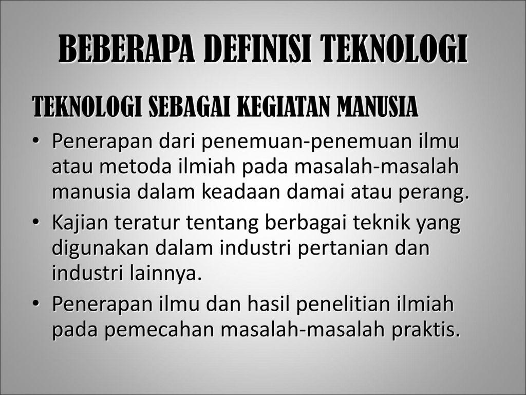 Ilmu Dan Teknologi Ppt