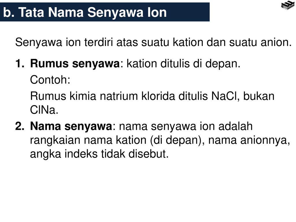 Bab 5 Stoikiometri 5 1 Tata Nama Senyawa Sederhana Ppt Download