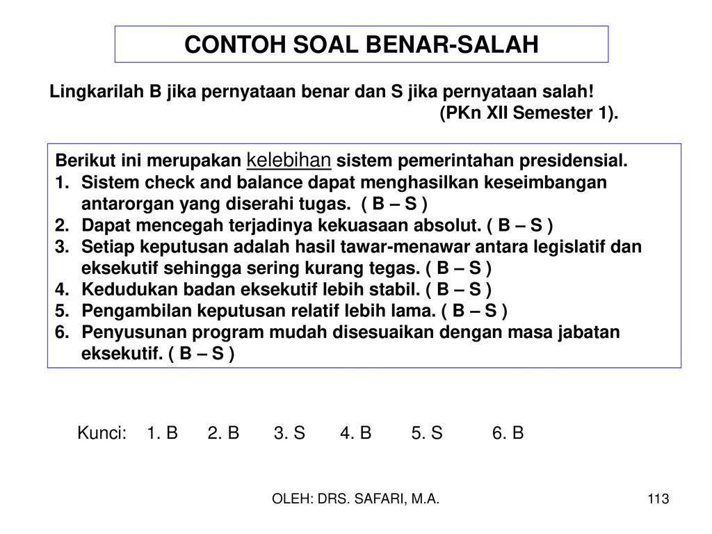 Contoh Soal Benar Salah Bahasa Indonesia Sekolah Dasar Materi Ejaan Jawabanku Id