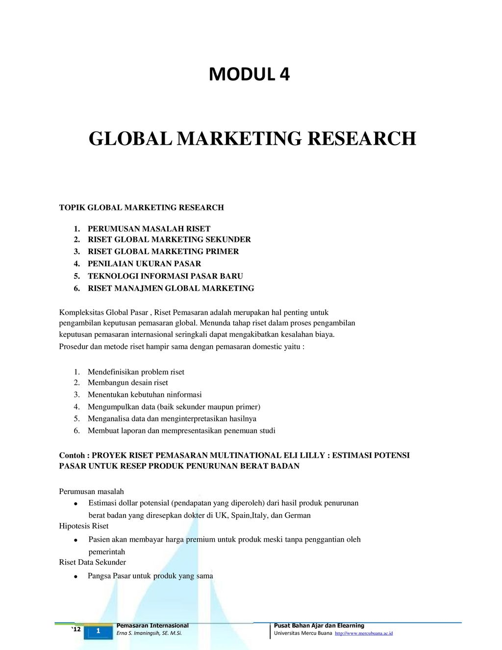 Global Marketing Research Ppt Download