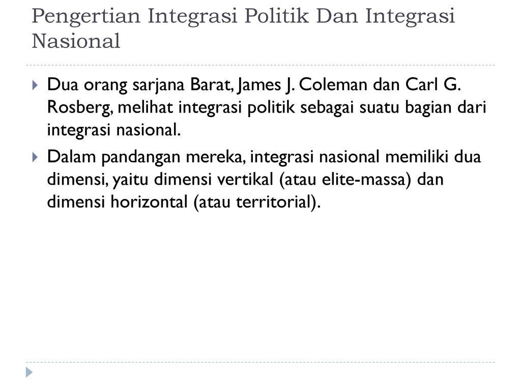 Integrasi Politik Dan Integrasi Nasional Ppt Download