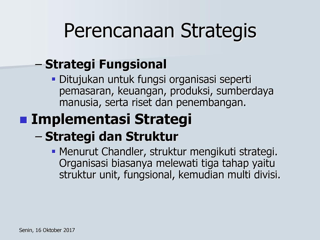 Perencanaan Strategis