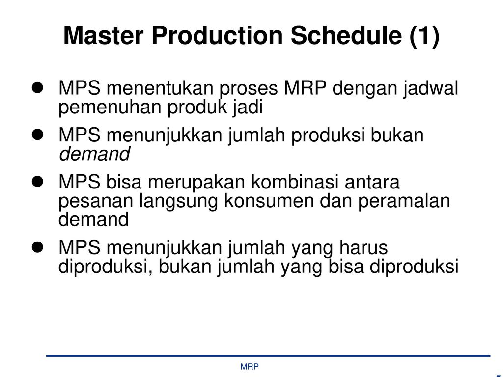 master production schedule Learn master production schedule (mps) with free interactive flashcards choose from 29 different sets of master production schedule (mps) flashcards on quizlet.
