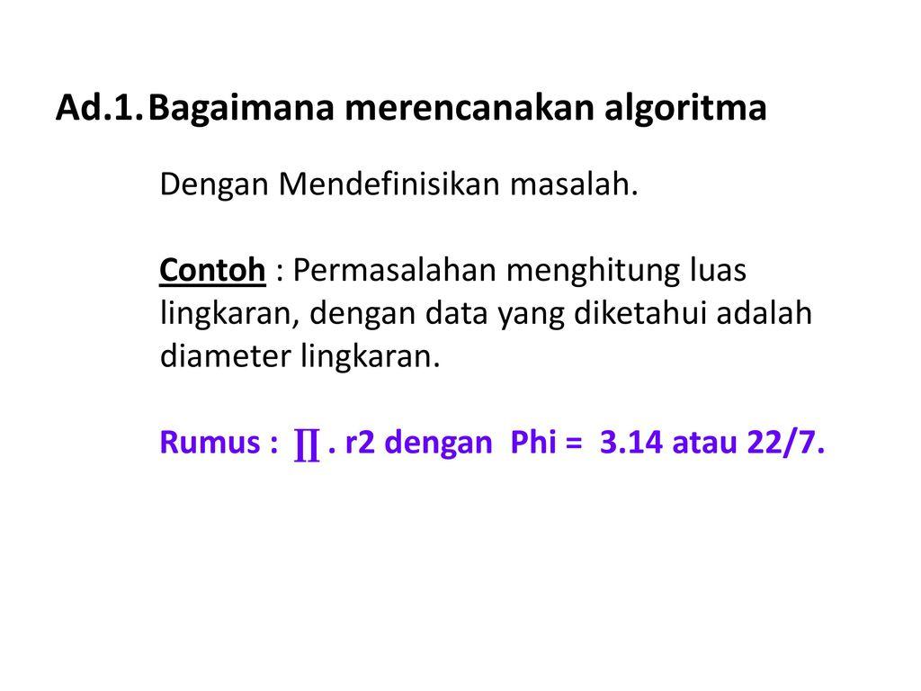 Algoritma Dan Pemrograman 1 Ppt Download