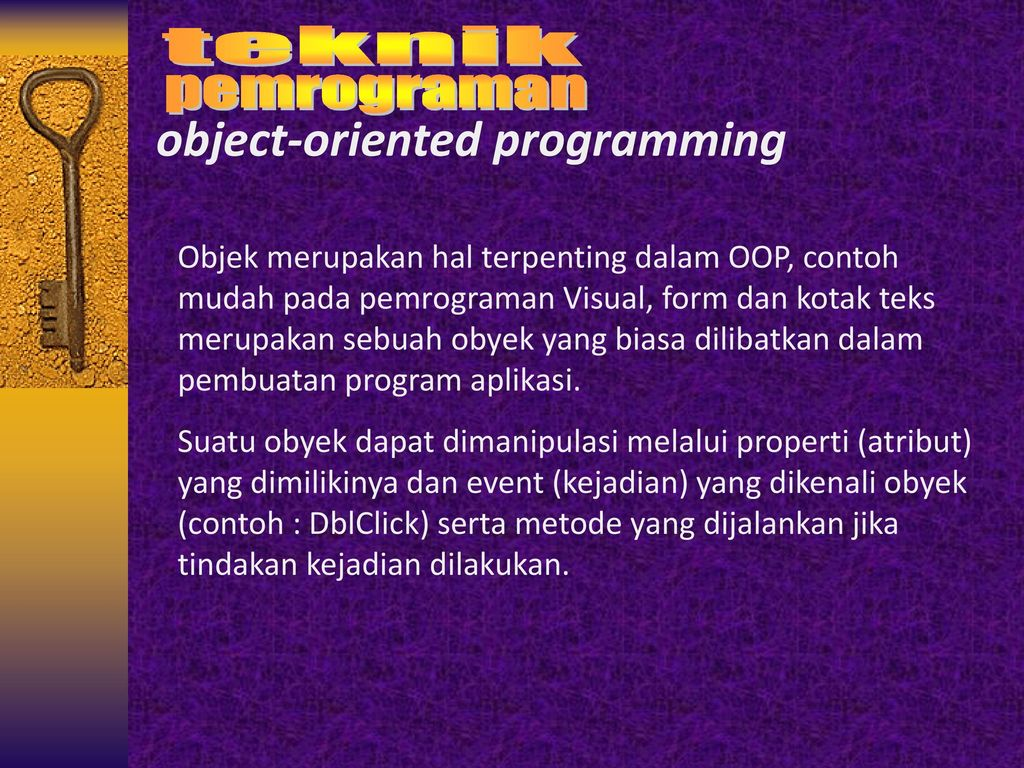 objected oriented programming paper Object orientation has become more and more important in the last years object oriented programming was designed for re-use of codes it is a type of programming in which programmers define not only the data structure, but also the types of operations that can be applied to the data.