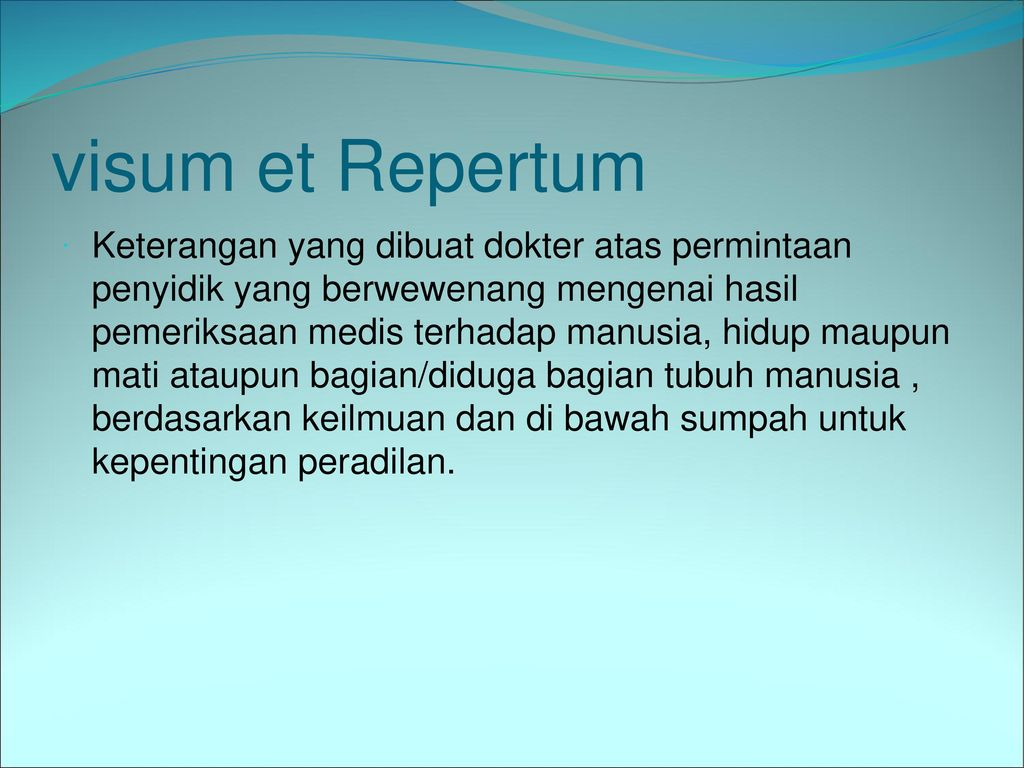 Visum Et Repertum Ppt Download