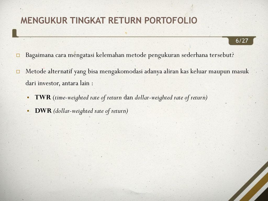 strategi portofolio terdiversifikasi yang sederhana