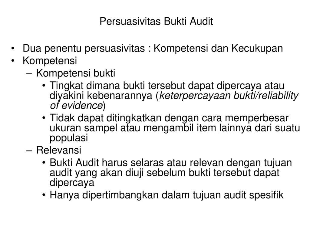 Bab 7 Bukti Audit Bukti Audit Ppt Download