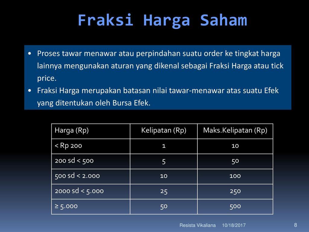 Memahami Mekanisme Perdagangan Saham Ppt Download