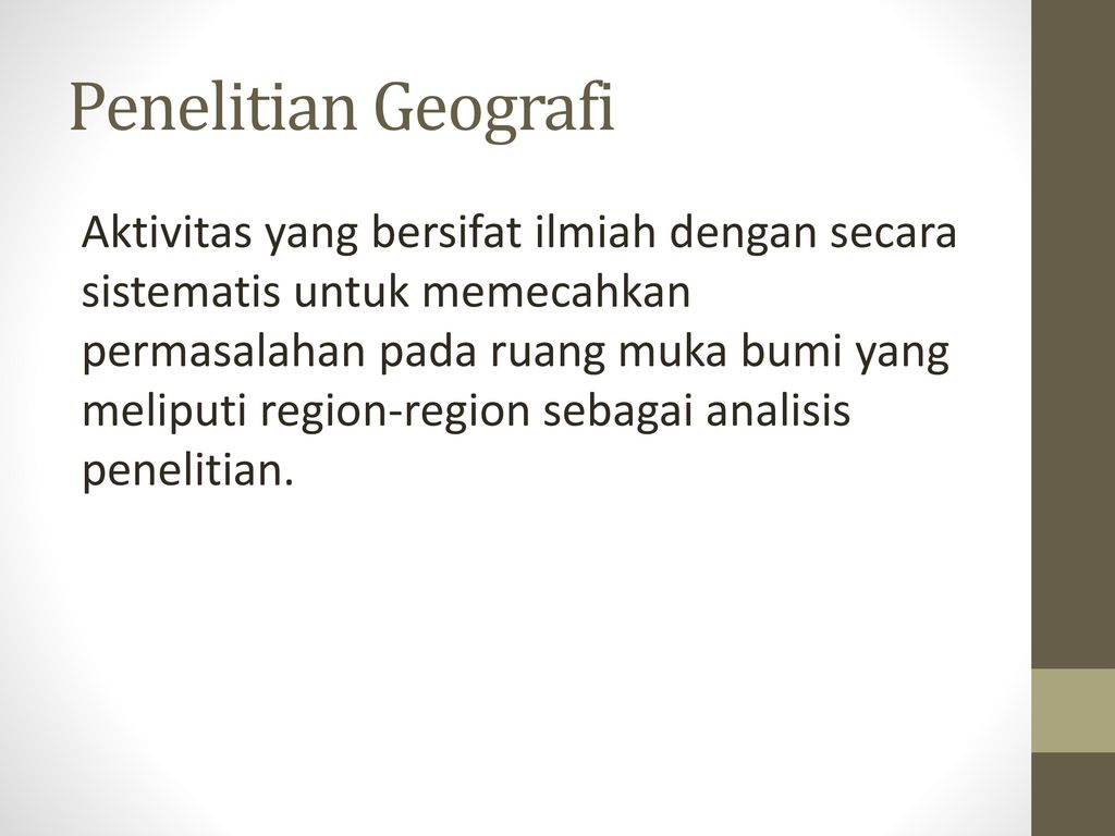 Langkah Penelitian Geografi Ppt Download