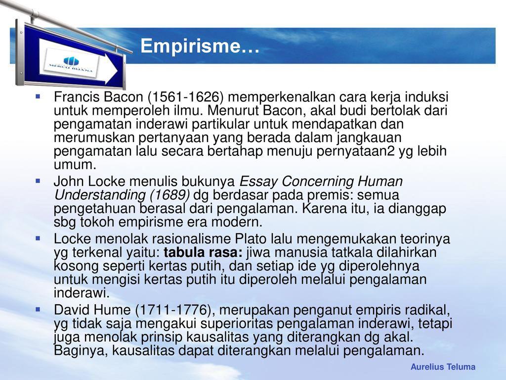 an essay concerning human understanding tabula rasa Locke's essay concerning human understanding, book ii, ch's i-vii - duration: 1:16:38 loverdose - tabula rasa - duration: 7:00.