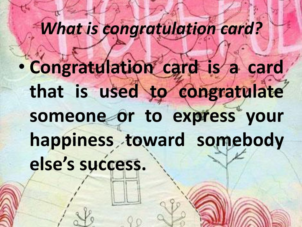 What is congratulation card