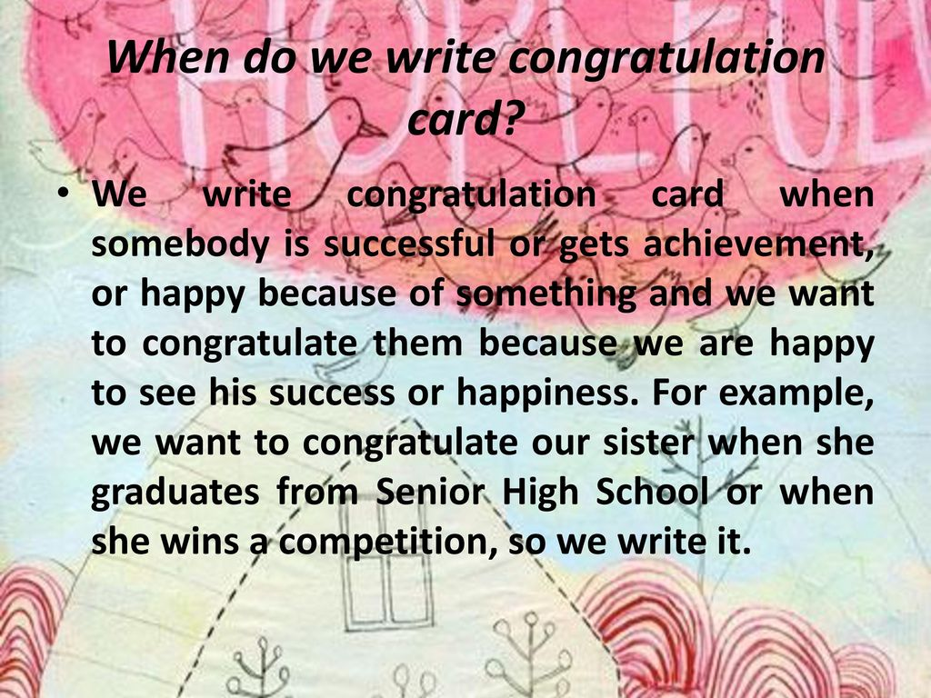 When do we write congratulation card