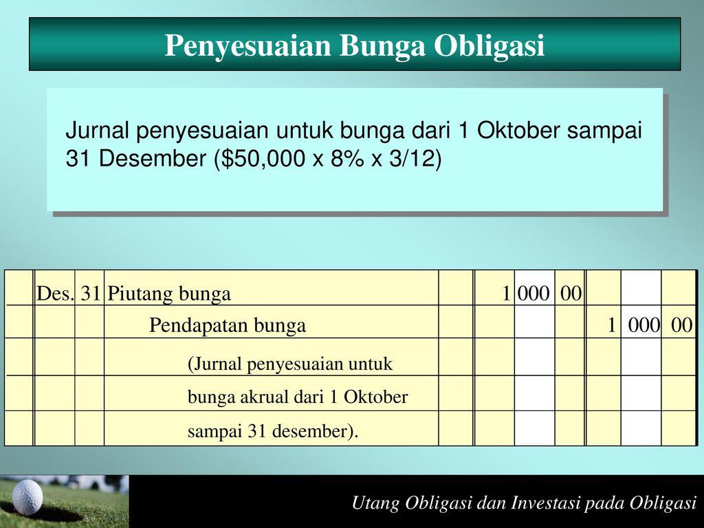Utang Obligasi Dan Investasi Pada Obligasi Ppt Download