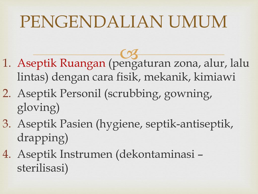 Sterilisasi Desinfeksi Kamar Bedah Ppt Download