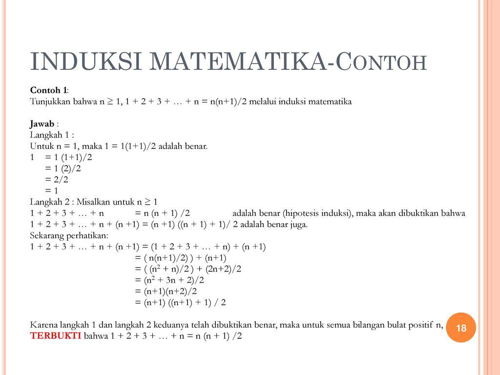 Induksi Matematika Ppt Download