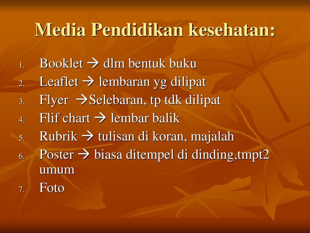 Metode Dan Media Dalam Promosi Kesehatan Ppt Download